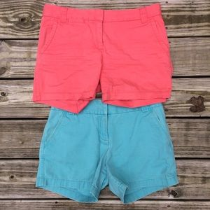 J. Crew Chino Shorts Size 6 Lot of 2